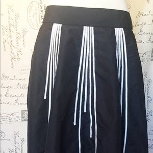 The Limited black fully-lined skirt with detail